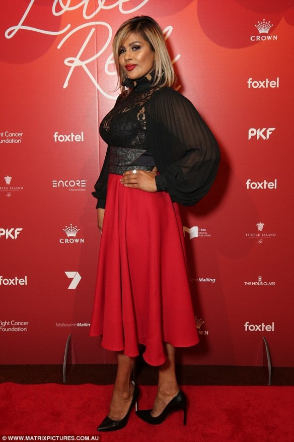 Star studded:The 53-year-old put her relationship woes behind her as she stunned at the grand event held at Crown Melbourne alongside Married At First Sight cast members