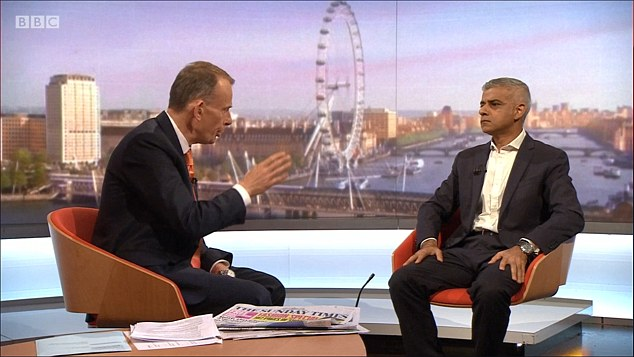 "The Mayor of London (pictured today on Marr) said campaign campaign promises had proved ""lies"" and said he wanted a ""first"" referendum on leaving the EU"