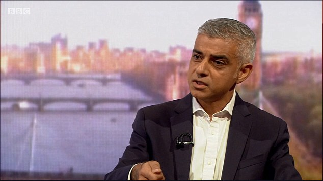 Brexit should be postponed from March 2019 to allow time for a new referendum on leaving the EU with the option to remain permanent, said Sadiq Khan (pictured on the BBC today)