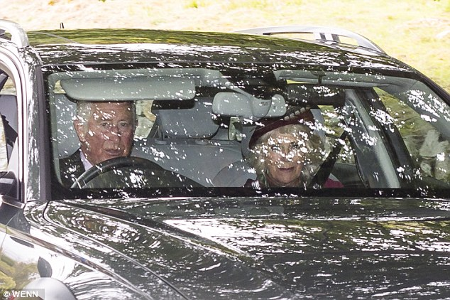 Prince Charles and the Duchess of Cornwall were also part of the group, but opted to travel to church in their own vehicle