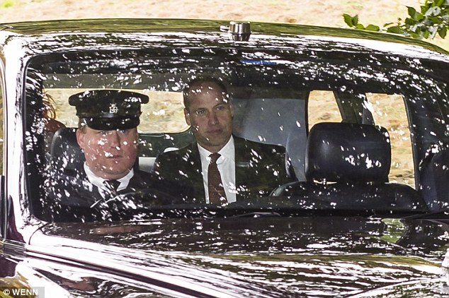 The Queen's eldest grandson kept her company on the journey to church, which is one of the most important parts of the monarch's weekly routine