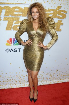 Tyra Banks' style at America's Got Talent red carpet in LA