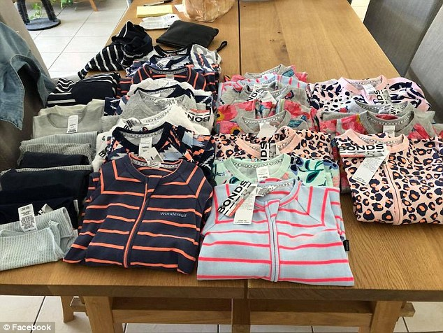 Another shopper shared a massive spread of $600 worth of her children's sleepwear, in which she paid just $100 for her astonishing haul