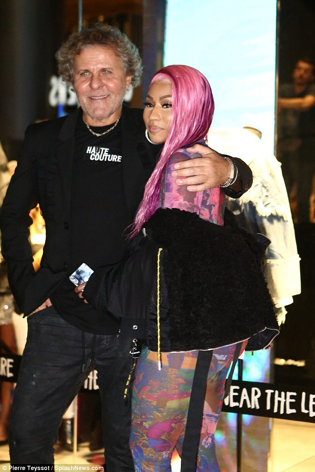 'Renzo, my love':Eyebrows raised when Diesel founder Renzo Rosso (L) handpicked the 35-year-old hip-hop star to rep his FW/18 'Hate Couture' collection, which (partially) benefits cyberbullying organizations