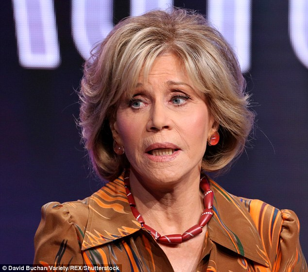 Sad loss:Jane Fonda found out her mother died from suicide from a movie magazine. The Monster-In-Law star thought her mum Frances Ford Seymour had passed away from a heart attack when she was 12 years old as that's what her father Henry Fonda had told her at the time. Seen in July
