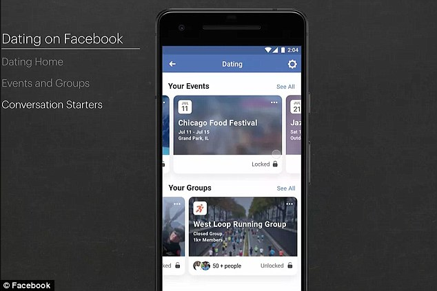 Facebook has linked its Groups and Events sections with Dating so that users can find even more prospective matches. Users can opt to show their Dating profile to people in a Group