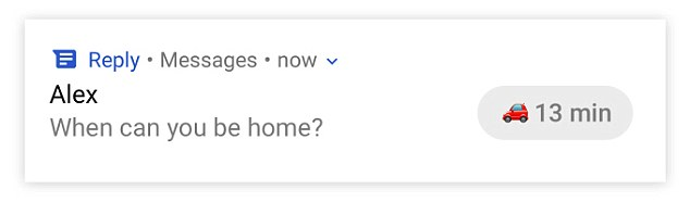 It offers short responses to emails, like 'It was great seeing you too,' 'I'll look into it' or 'Sounds good, thanks for the heads up!'Others are shorter, like 'Nope, that's fine' or 'Yes, I'll be home'