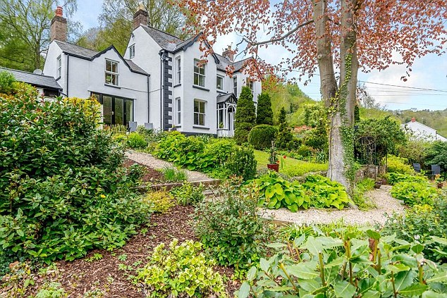 Digital dream: This five-bedroom village house with a charming garden is in an Area of Outstanding Natural Beauty near Monmouth, which already has an improved digital service