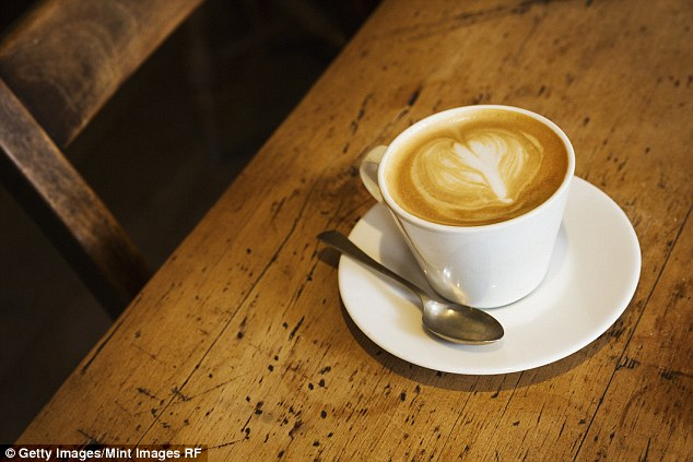Men who drink two cups or coffee or tea every day are more than twice as likely to get their partner pregnant (file photo)