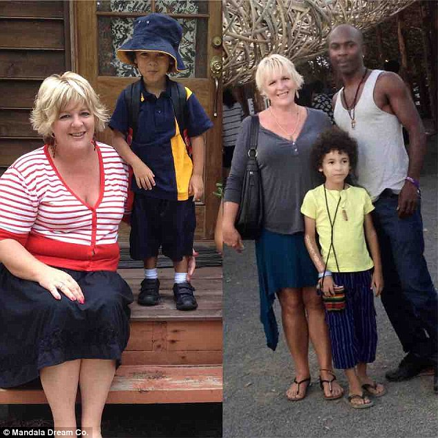 'If it worked for me I figured it would work for others and I'm excited to bring it to more people. It really does speak for itself,' Jul said (left before, right, presently)