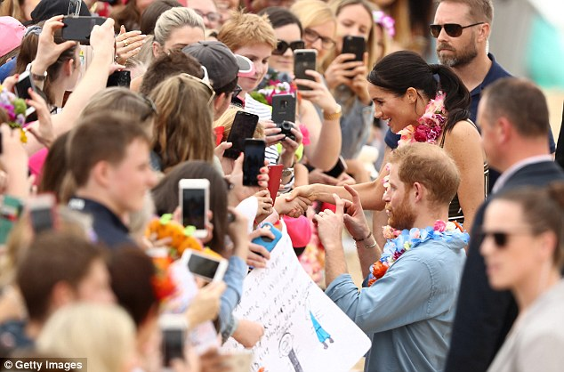 Thousands of well-wishers came out to Sydney's iconic Bondi Beach to see the royal couple on Friday morning