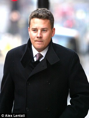 Jonathan Rowland (pictured) and his father David were allegedly transferred by the Abu Dhabi United Group for the purchase of Man City's players' marketing rights