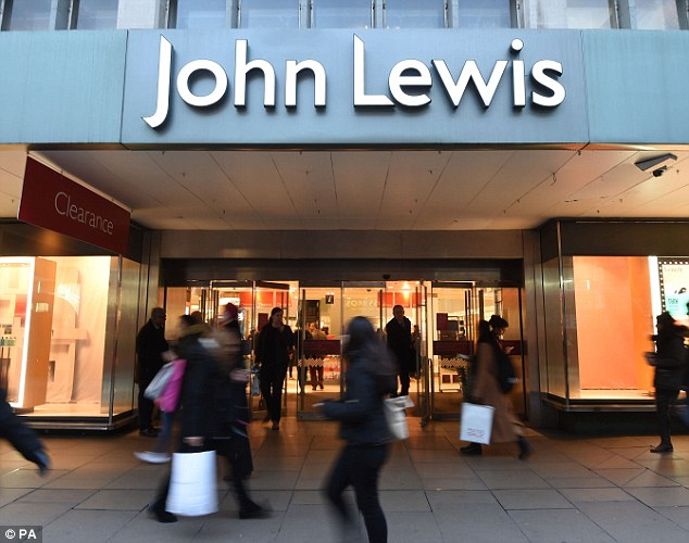 Annoying: In September, the John Lewis Partnership recorded a 99% drop in half-year net income
