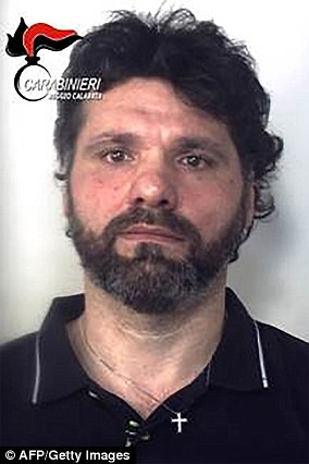 In 2016, a suspected 'Ndrangheta boss, Ernesto Fazzalari (pictured), was arrested after two decades on the run, fleeing a life sentence for murder