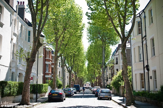 Elegant: a green London street