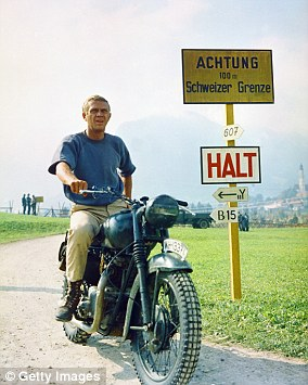 The Great Escape starred Steve McQueen (pictured above) as Captain Virgil Hilts