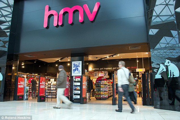 In January this year, HMV (pictured, its branch at Westfield in Shepherds Bush) has gone into administration for the second time in six years