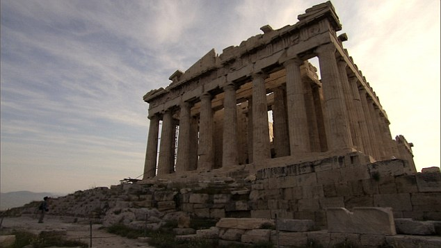 The statueswere taken from the top of the Parthenon temple in Athens from 1801 to 1812