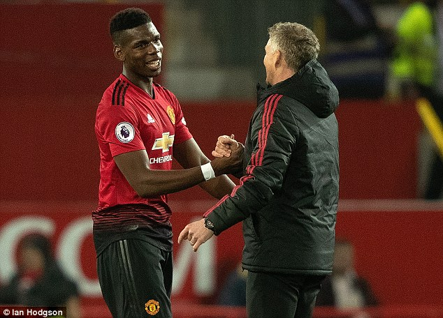 Paul Pogba struggled under Jose Mourinho, but now looks a different player with Solskjaer
