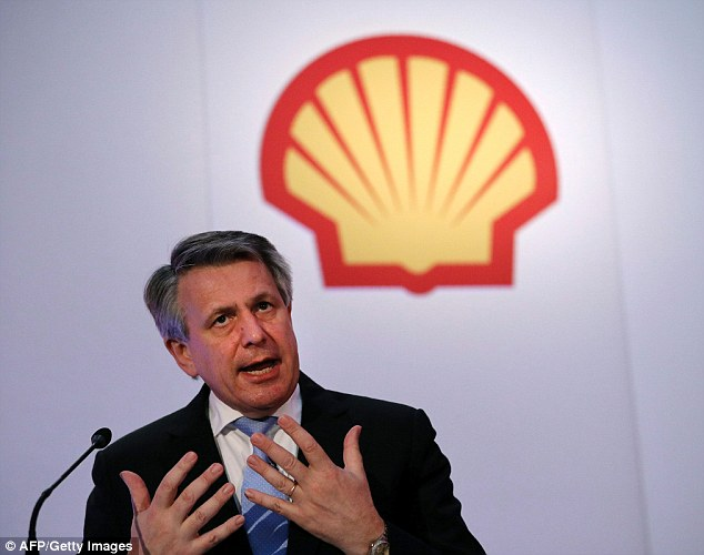In the money: The boss of oil and gas giant Royal Dutch Shell, Ben Van Beurden, received a 126 per cent pay packet boost last year