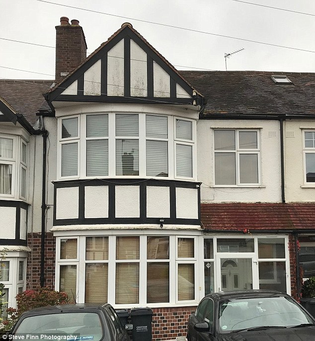 The effigy is believed to have been burned at a party at the back of this London home