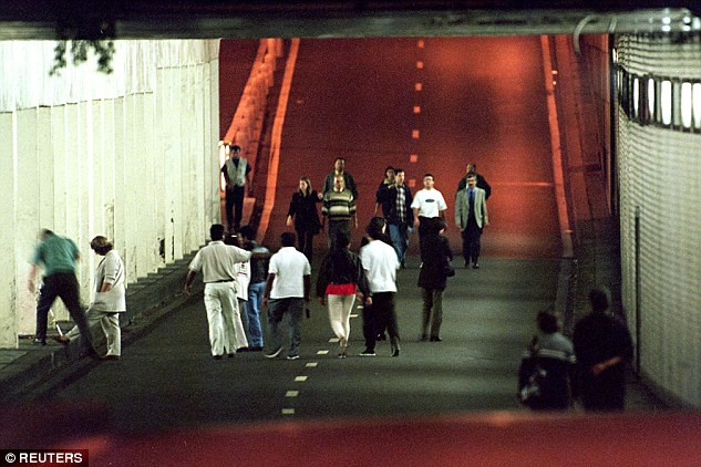 The Pont de' l'Almal tunnel where Princess Diana, her lover Dodi Fayed and driverHenri Paul were killed in a crash
