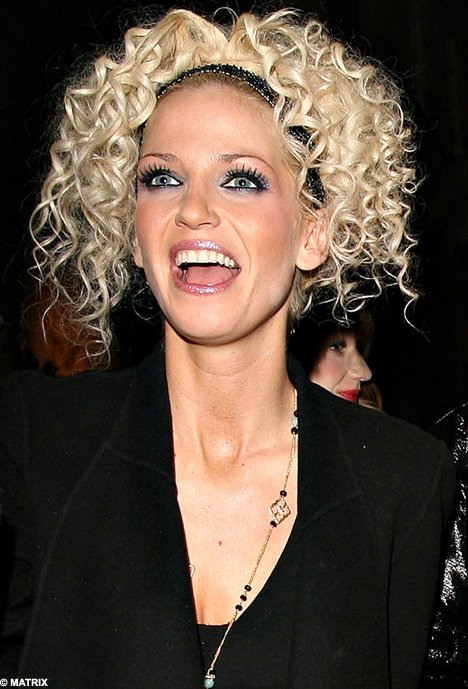 Curls Allowed Sarah Harding Shows Off Her Blonde Perm