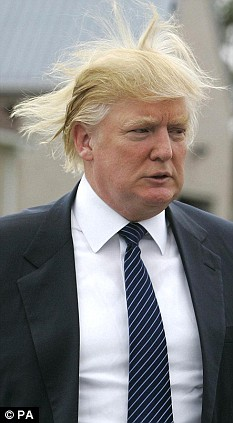Hair Raising Moment As Billionaire Donald Trump Drops In