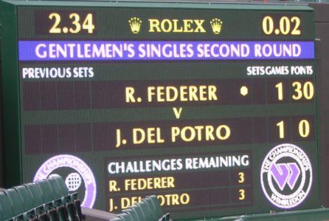 A tennis score card