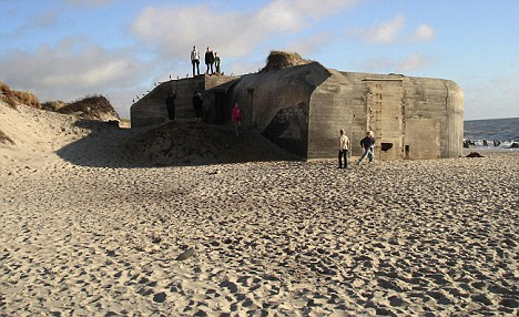 The bunkers had not been touched since the war