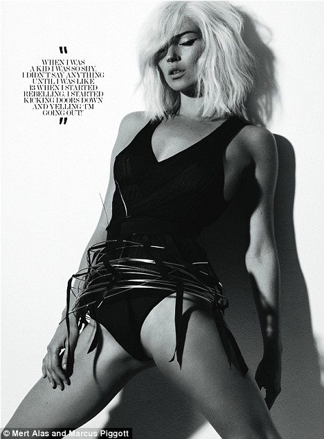 Kate Moss as featured in 'Interview'