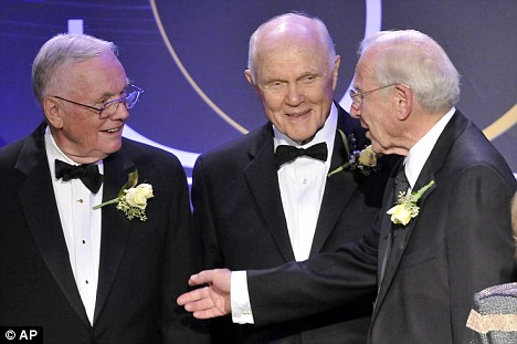 The men on the moon: Astronauts reunite for NASA's 50th ...