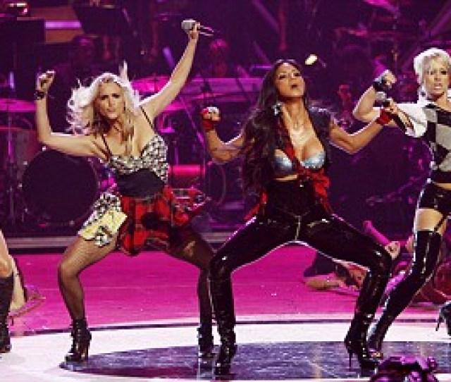 Enlarge Jessica Sutta Ashley Roberts Nicole Scherzinger Kimberly Wyatt And Melody Thornton Give It