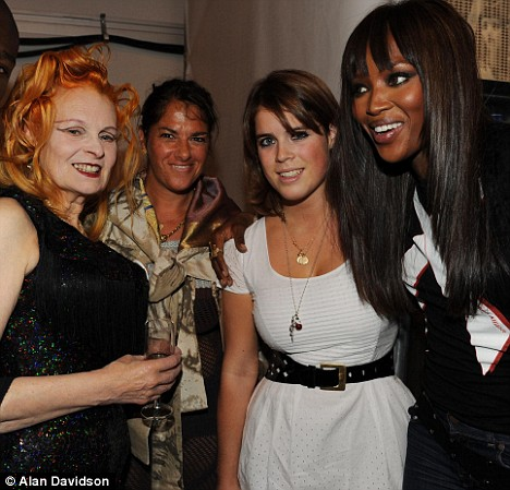 Vivienne Westwood, Tracey Emin, Princess Eugenie and Naomi Campbell backstage