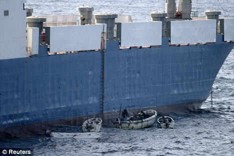 Somali pirates in action