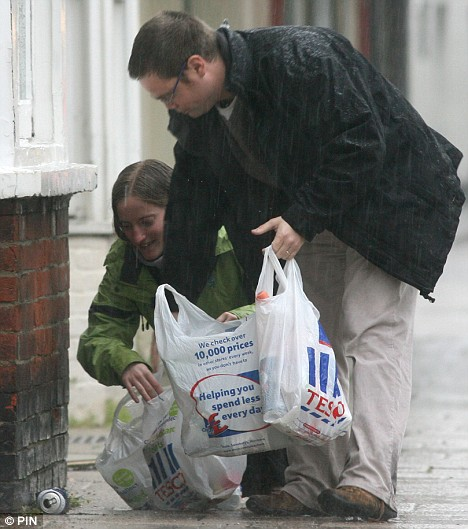 The couple demonstrate how they spent the last three months trawling the streets of Hampshire for rubbish