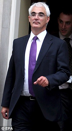 Where's the beard gone: Alistair Darling as he is today