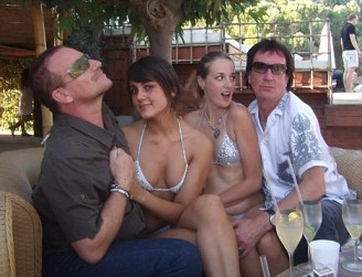 Bono enjoying a holiday