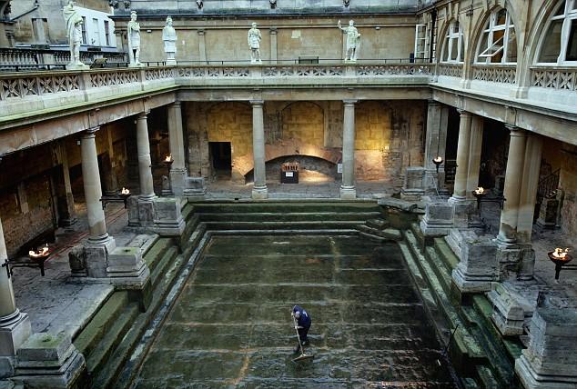 Image result for lead lining roman baths bath england