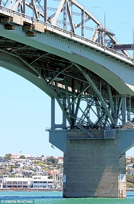 The Auckland Harbour Bridge in New Zealand