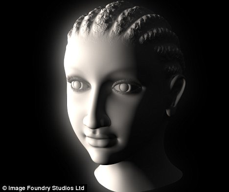 Egyptologist Sally Ann Ashton believes this computer-generated image is that of Cleopatra VII as a young girl.  Remember that Greeks also borrowed a lot from the Egyptians--science, technology and philosophy--including the braiding and corn-rowing hair styles that we see in classical Greek art.