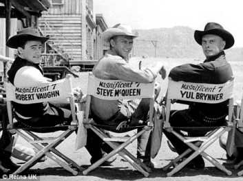 Image result for robert vaughn and steve mcqueen magnificent 7
