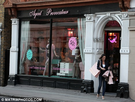 Claire leaves the upmarket shop after selecting some new underwear