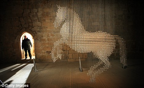 Diffusion line: The horse sculpture makes a change from the more common perfume or handbag