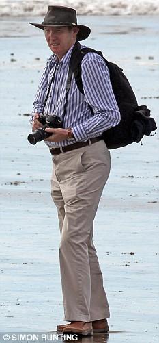 Kevin Barron MP, on a beach