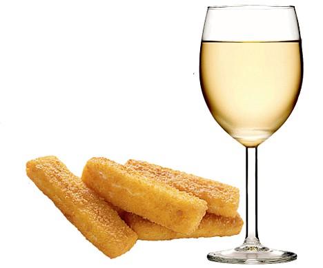 Fish fingers Wine