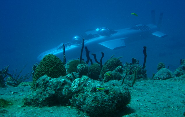 The submersible can glide silently to allow unrivalled exploration of aquatic creatures and corals