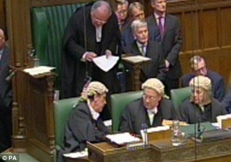 The Speaker had to ask the clerk for advice on protocol as he faced a barrage of points of order from angry MPs