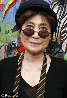 Yoko wears one of John's old school ties during a visit to Alder Hey children's hospital in Liverpool in 2007
