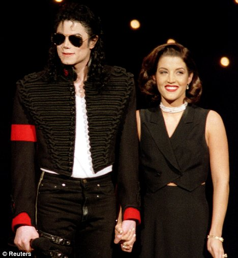 Michael Jackson with wife Lisa Marie Presley in 1994